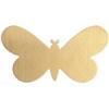 Metal Blank 24ga Brass Butterfly 33x19mm No Hole 9Pcs